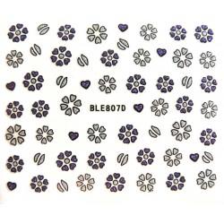 Naklejki na paznokcie BLE807 samoprzylepne naklejki do zdobienia paznokci