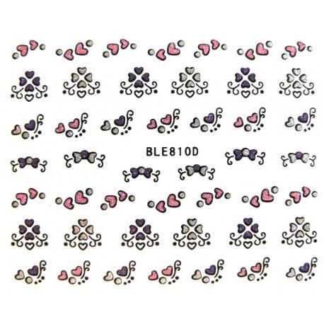 Naklejki na paznokcie BLE810 samoprzylepne naklejki do zdobienia paznokci
