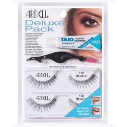 Ardell Deluxe Pack 110 BLACK 2 pary sztucznych rzęs na pasku Ardell +klej DUO +aplikator