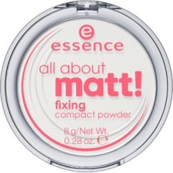 Essence All About Matt! Fixing Compact Powder puder matujący w kompakcie transparentny