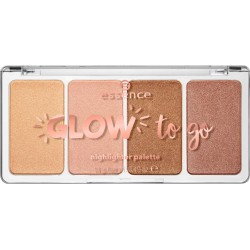 Essence Glow To Go Highlighter Palette paleta rozświetlaczy do twarzy 10 Sunkissed Glow