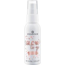 Essence Glow To Go Illuminating Setting Spray rozświetlający spray utrwalający makijaż