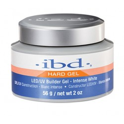 IBD Hard Gel LED/UV Builder Gel Intense White żel budujący 56g