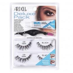 Ardell Deluxe Pack 120 DEMI 2 pary sztucznych rzęs na pasku Ardell +klej DUO +aplikator